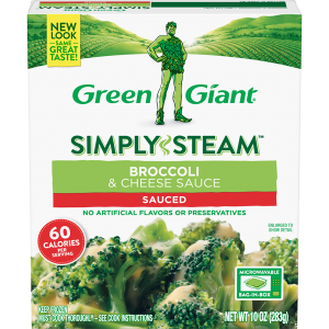 Green Giant® Simply Steam™ Broccoli & Cheese Sauce product Frozen Vegetables