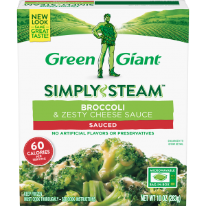 Green Giant® Simply Steam™ Broccoli & Zesty Cheese Sauce product