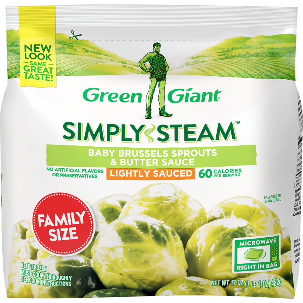 Green Giant® Simply Steam™ Family Size Baby Brussels Sprouts & Butter Sauce