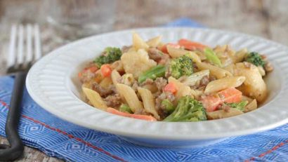 Green Giant Weeknight Sausage & Cheesy Vegetable Penne Pasta