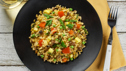 Riced Cauliflower Medley Paella