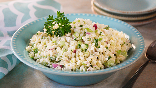"Riced Cauliflower ""Potato"" Salad"