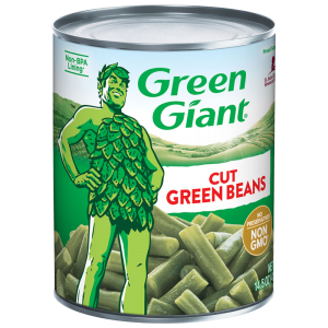 Image of green giant cut green beans. canned vegetables